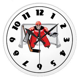 Horloge de gardien de but de hockey sur glace