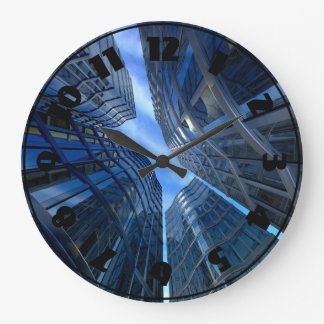 Horloge de gratte-ciel de ville