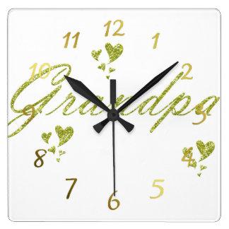 horloge de grendpa d'or