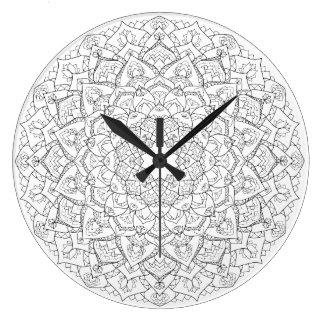 Horloge de lotus de mandala