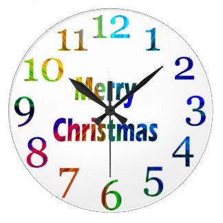 Horloge de mur de couleur d'arc-en-ciel de Joyeux