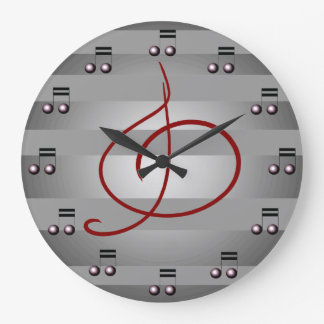 Horloge de musiciens de clef triple de notes