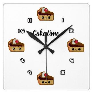 Horloge de paroi carrée CAKE TIME