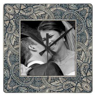 horloge de photo de mémoire de mariage