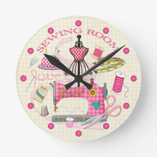 Horloge de pièce de couture