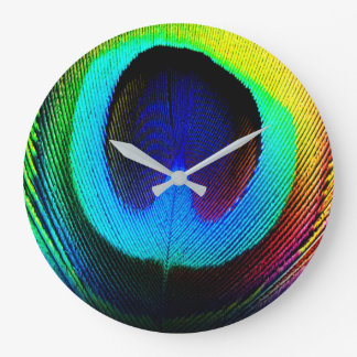 Horloge de plume de paon