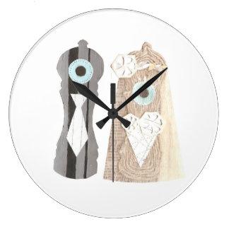 Horloge de poivre de M. et de Mme Salt n