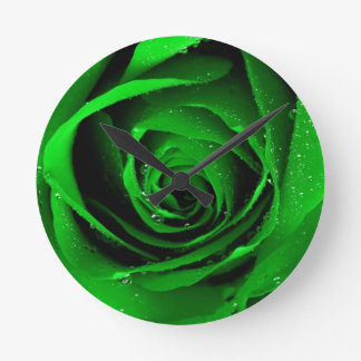 Horloge de rose vert, par Mysistergirl