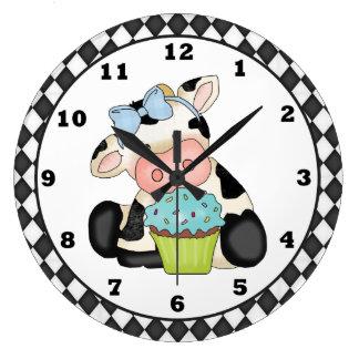 Horloge de vache à petit gâteau