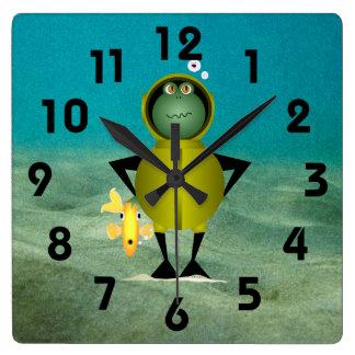 Horloge d'homme-grenouille