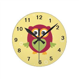 Horloge du hibou de l'enfant