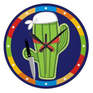 Horloge du sud-ouest mexicaine de cuisine de chef
