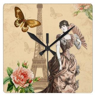 Horloge élégante de mode française vintage