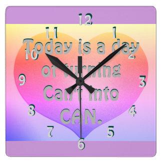 Horloge en pastel de inspiration de motivation