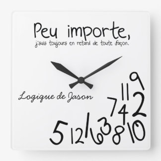 Horloge faite sur commande