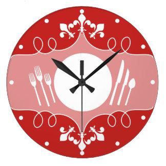 horloge faite sur commande de cuisine de