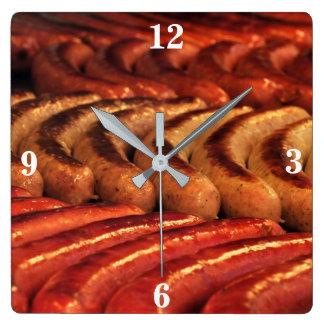 Horloge grillée de saucisse