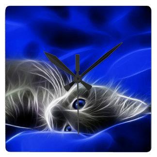 Horloge grise de chaton, par Mysistergirl