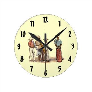 Horloge haïtienne de musiciens de rue
