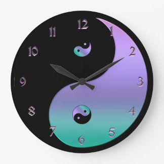Horloge iridescente de Yin Yang