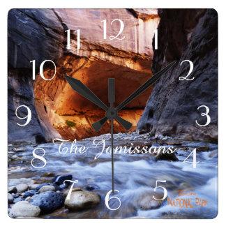 Horloge, le parc national de Zion d'étroits Horloge Carrée