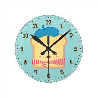 Horloge mignonne de décor de pièce d'humour de