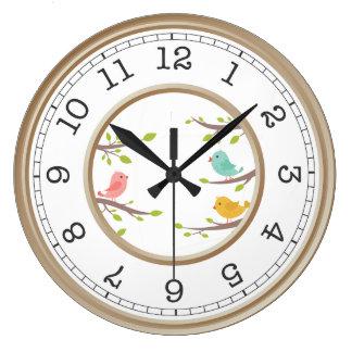 Horloge mignonne d'oiseau