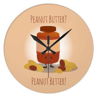 Horloge mignonne du pot | de beurre d'arachide