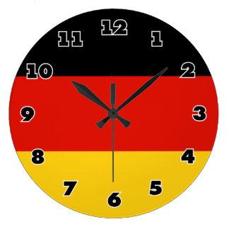 Horloge murale allemande de drapeau - Deutschland