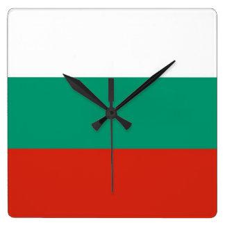 Horloge murale avec le drapeau de la Bulgarie