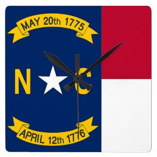 Horloge murale avec le drapeau de la Caroline du