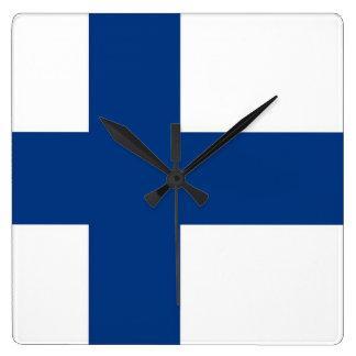 Horloge murale avec le drapeau de la Finlande