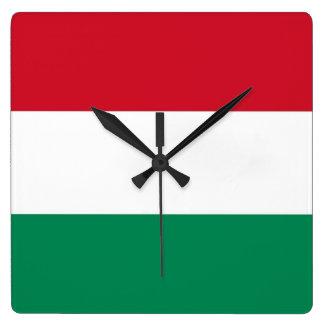 Horloge murale avec le drapeau de la Hongrie