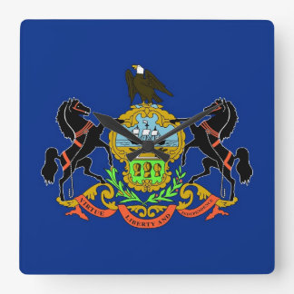 Horloge murale avec le drapeau de la Pennsylvanie,