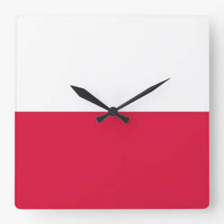 Horloge murale avec le drapeau de la Pologne