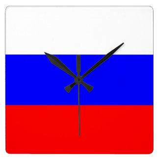 Horloge murale avec le drapeau de la Russie