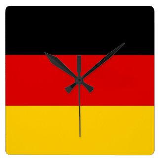 Horloge murale avec le drapeau de l'Allemagne