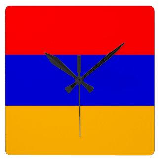 Horloge murale avec le drapeau de l'Arménie