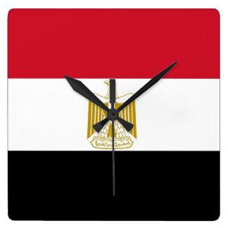 Horloge murale avec le drapeau de l'Egypte