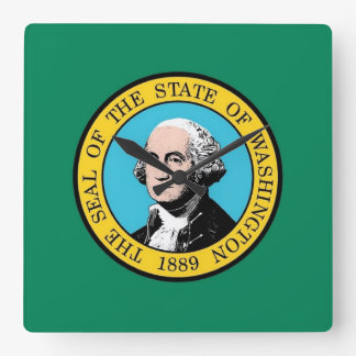Horloge murale avec le drapeau de l'état de