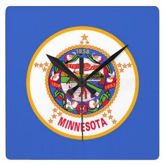 Horloge murale avec le drapeau du Minnesota,