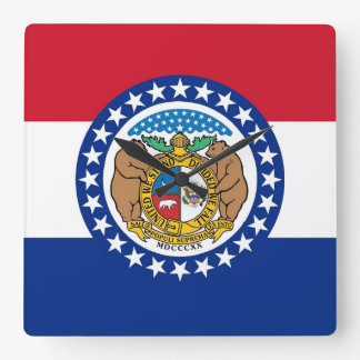 Horloge murale avec le drapeau du Missouri,