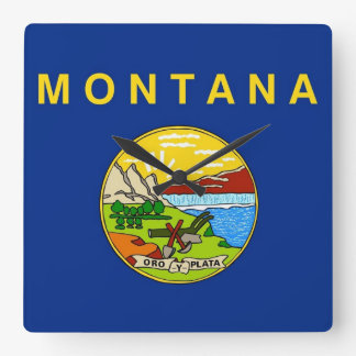 Horloge murale avec le drapeau du Montana,
