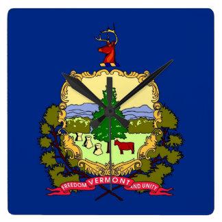 Horloge murale avec le drapeau du Vermont,