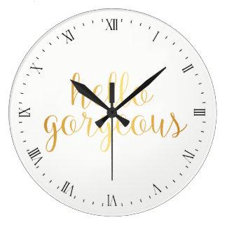 Horloge murale - bonjour magnifique