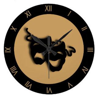 Horloge murale bronzage de théâtre de Brown de
