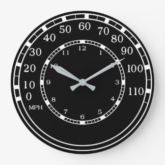Horloge murale classique noire de garage de