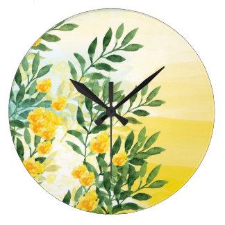 Horloge murale d'aquarelle de brume d'été