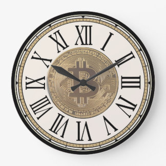 Horloge murale de Bitcoin de chasseurs de trésor