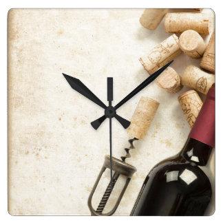 Horloge murale de bouteille de vin